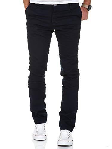 Amaci&Sons Herren Slim Fit Stretch Chino Hose Jeans 7100 Navyblau W34/L34
