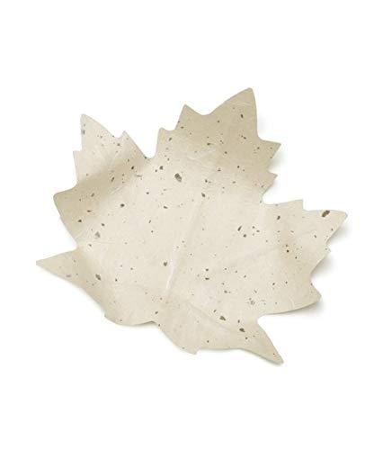 Flexible Hanji-Papierschale Ahornblatt Weiß – Ablage / Servierschale aus traditionellem Hanji-Papier: Leicht, formbar und wasserabweisend