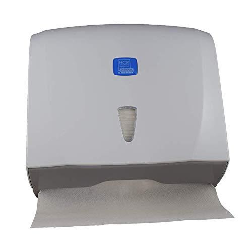 Handtuchspender, Papierhandtuchspender, Papierspender weiß für ca 250 Blatt