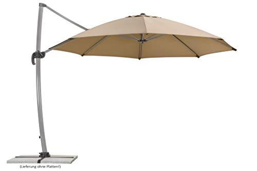 Schneider Sonnenschirm Rhodos Rondo, sand, 350 cm rund, Gestell Aluminium, Bespannung Polyester, 22.4 kg