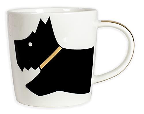 Radley London Taza de cerámica para café y té, apta para microondas y lavavajillas, 12 onzas