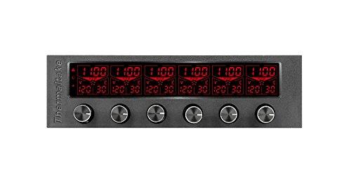 Thermaltake Commander F6 RGB LCD 6 Channel Single 5.25'' Bay Fan Controller AC-024-BN1NAN-A1