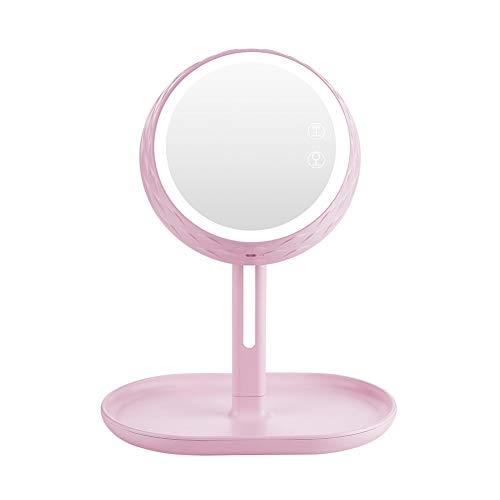 Jjoer Ventilador PequeñO Mesa Espejo De Maquillaje Abanico Uno Ventilador Mesa Silencioso Mini Ventilador Portatil Ventilador Grande para Salidas De Picnic Pink