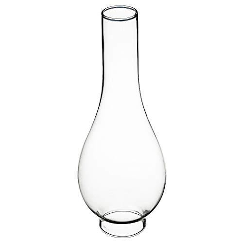 Delite Glaszylinder transparent, unterer Durchmesser außen 50 mm, oberer Durchmesser außen 35 mm, Bauchdurchmesser 80 mm, Bauch 80 mm, Höhe 180 mm, für Petroleumlampe Sampan II und andere Lampen