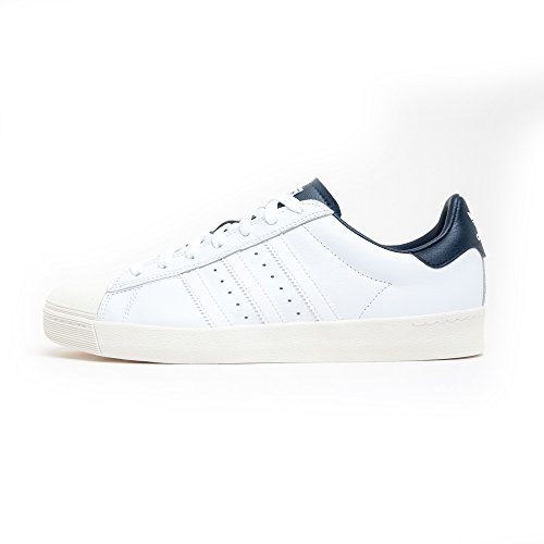 adidas Originals Superstar Vulc ADV, Ftwr White-Ftwr White-Collegiate Navy, 11,5