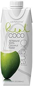 Real Coco- Agua de coco 100% Natural 330ml (1 caja de 12 unidades)