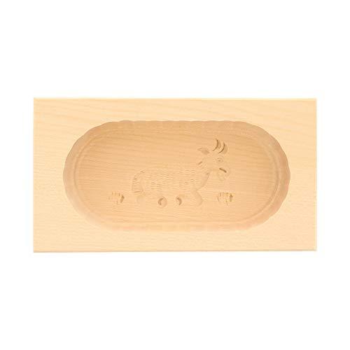 HOFMEISTER® Butterform, für 125 g Butter, 14 cm, Ziege, handgefertigt in Deutschland, Butter-Form zum Dekorieren, eckige Sturz-Form, Butter-Model aus heimischem Ahorn-Holz
