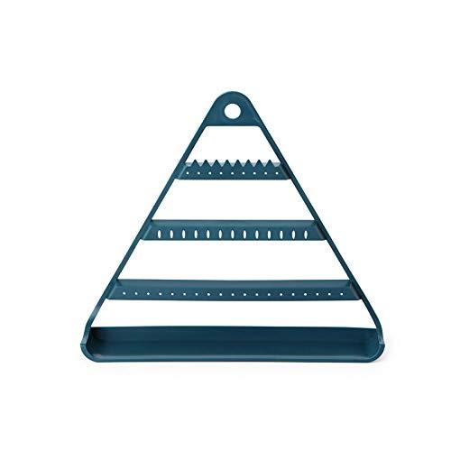Hangarone Soporte para joyas y pendientes, soporte para joyas, organizador de pendientes, triángulo creativo para joyas, 28,8 x 25,3 x 5,3 cm