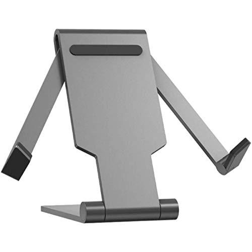 ZHANG Soporte De Teléfono De Aleación De Aluminio Soporte De Teléfono Ajustable Soporte De Tableta Plegable para Documento De Menú De Libro De Teléfono Universal