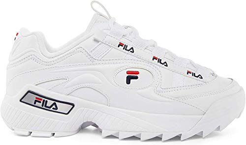 Fila Herren D-Formation Synthetic Leather White Navy Red Trainer 41.5 EU
