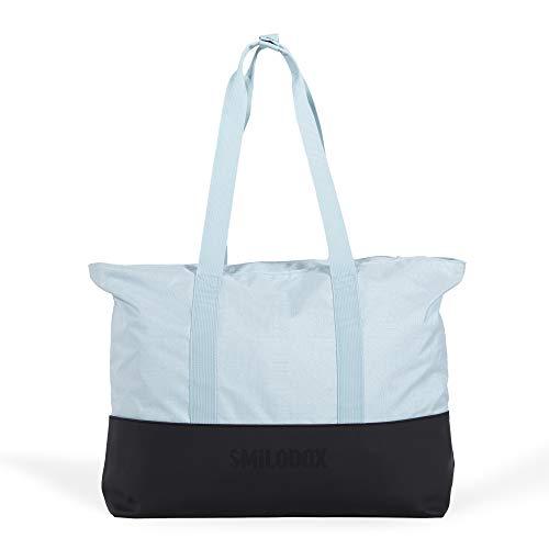SMILODOX Tote Bag WONDERLUST | Für Sport Fitness Training & Freizeit | Ultraleicht - ideal für Schule, Uni, Reisen, Outdoor, Farbe:Blau
