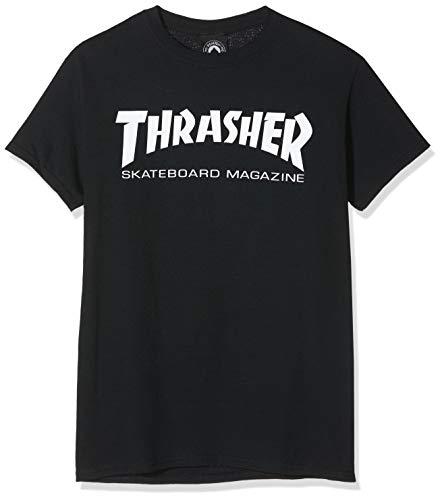 THRASHER Skate Mag T-Shirt Nero M 100% Cotone Taglio Normale