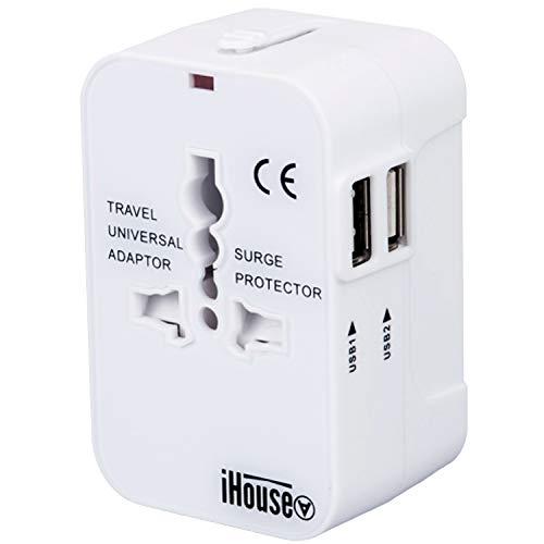 iHouse all 海外変換プラグ 海外コンセント 2USBポート全世界対応 旅行充電器 A/O/BF/Cタイプ電源変換プラ...