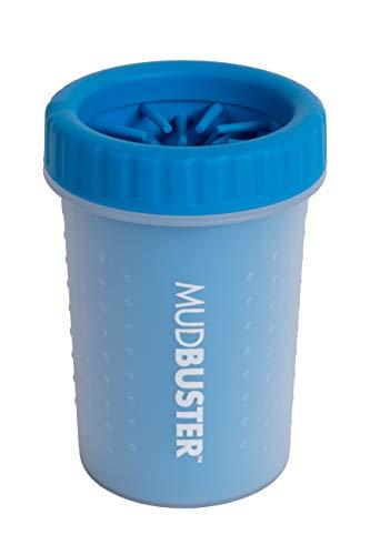 Dexas MudBuster Portable Dog Paw Washer/Paw Cleaner, Medium, Pro Blue