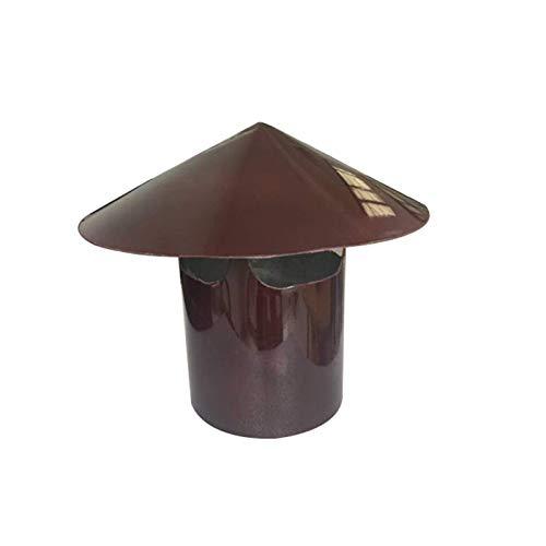 JXJ Tapa de Campana de Chimenea, Campana de aleación de Aluminio, protección de Aves, Tapa de Olla de Chimenea, Parte Superior Alta, Parte Superior Alta, Campana de Chimenea Multiusos, marrón, 1