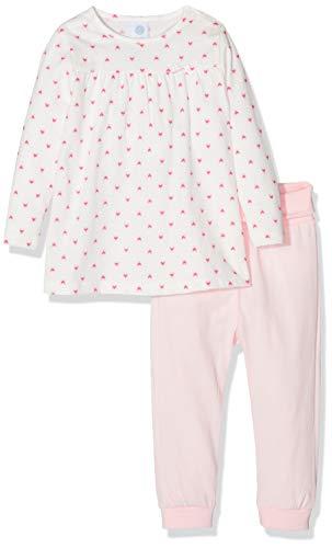 Sanetta Sanetta Baby-Mädchen Pyjama Long Zweiteiliger Schlafanzug, Beige (Broken White 1427), 74
