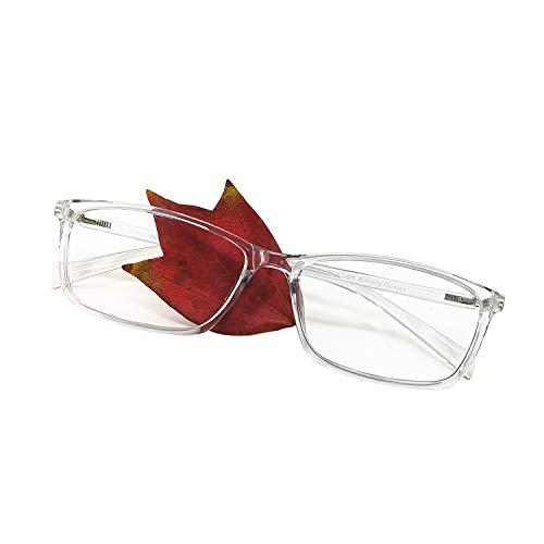 Computer Reading Glasses Blue Light Blocking Reader Gaming Screen Digital Eyeglasses Anti Glare Eye Strain Transparent Lens UV Light Weight for Women Men (Crystal Grey, 2.75)