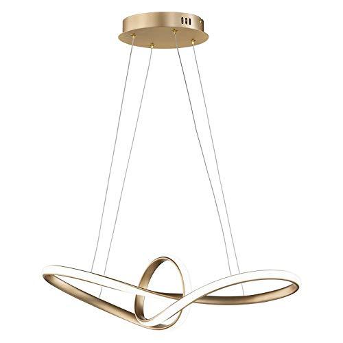 Moderna lámpara colgante LED regulable, 36 W, 1850 lm, anillo circular, lámpara creativa para salón o dormitorio