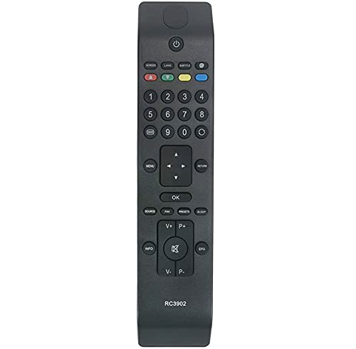 allimity Sostituire RC3902 Telecomando Compatibile con HITACHI L46VN05U Sharp LC22D12E, LC22LE22E, LC32D12E, LC40F22E LCD TV