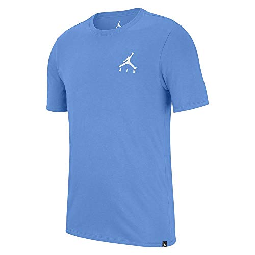 Nike Jordan Jumpman Air Embroidered - Camiseta azul claro/blanco M