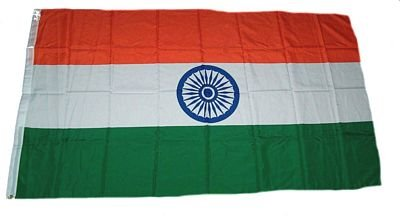 Flaggenking Indien Flagge - Fahne, Weiß, 150 cm x 90 cm