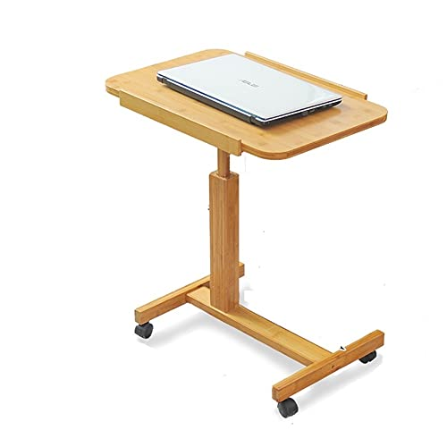 FEANG FurnitureR Escritorio de computadora con Rueda, Estudio Moderno Escritura de Mesa pequeña Cama para el hogar Dormitorio Dormitorio Sala de Estar Hogar (tamaño : 70cm)