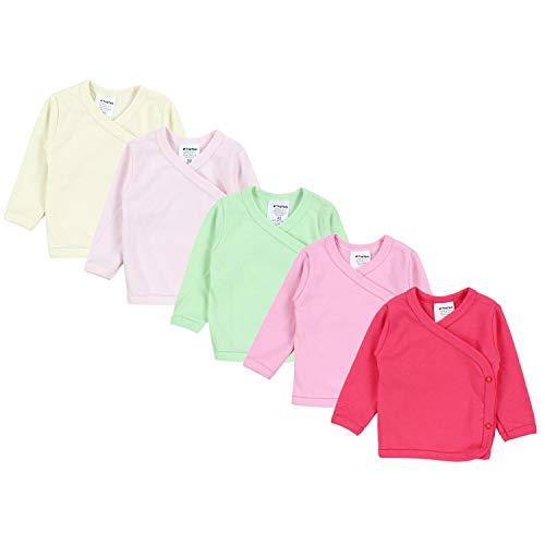 TupTam TupTam Baby Mädchen Langarm Wickelshirt Baumwolle 5er Set, Farbe: Mehrfarbig 5, Größe: 50