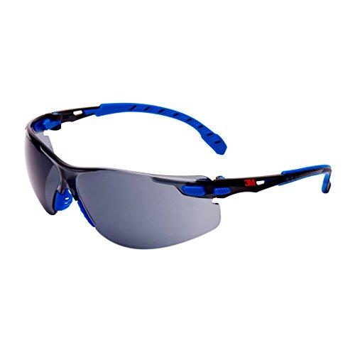Solus S1102S gafas de seguridad, antiniebla, lente transparente, Azul/marco negro