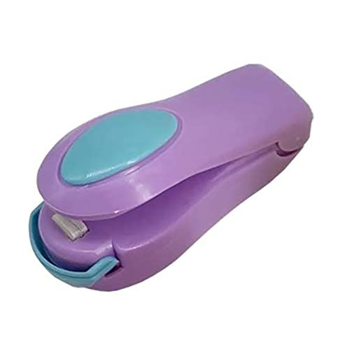 Mini Sealing Machine Portable Snack Bag Heat Sealer Mini Hand-held Sealer Hand Press Sealing Machine for Plastic Bags Food Saver Storage Purple