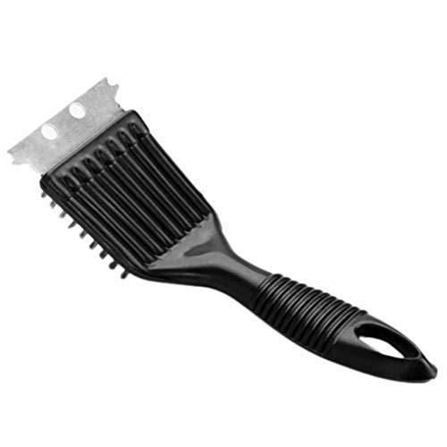 rycnet Grill-Reinigungsbürste, Metallschaber aus Stahldraht, zum Kochen und Reinigen, Schwarz