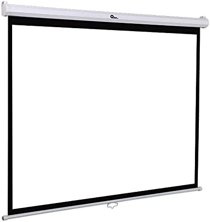 Qian Projection Screen 100 Inch 1:1 Manual Pull Down HD Project Screen Matte White (QPG-69502)