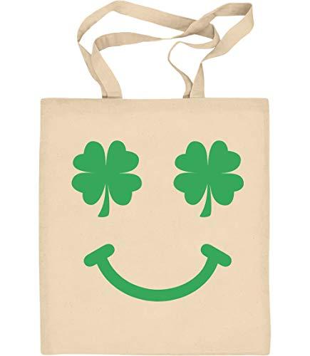 St. Patrick's Day Kleeblatt Clover Jutebeutel Baumwolltasche One Size Natur