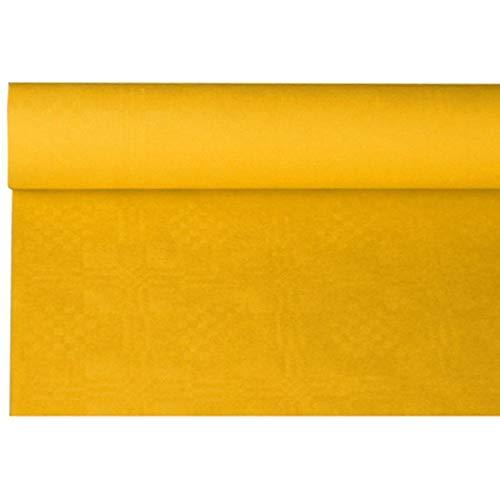Papiertischtuch mit Damastprägung, 8 m x 1,2 m, gelb