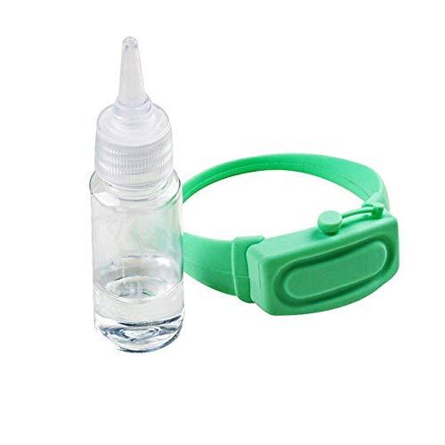 Outdoor Restaurant Krankenhaus Schule BüRo Tragbare Silikonfett Armband Armband Handheld Maschine Mit Quetschflasche Kann Sonnenschutz HäNdedesinfektionsmittel MüCkenschutz Wasser Speichern,green