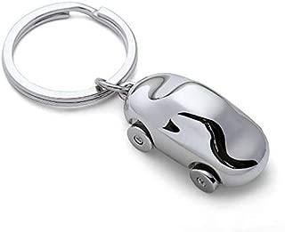 Iktu Mini Alloy Metal Car Keychain Cute Silver Key Chain
