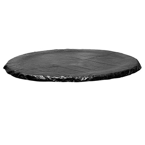 Cubierta Protectora Cama elástica, UV y Resistente Cubierta de Cama elástica Impermeable con Malla Escurrir Negro 2.44m