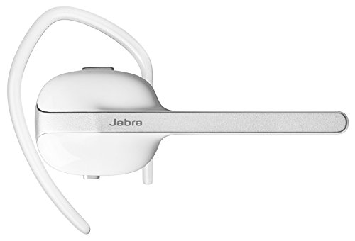 Jabra Style Wireless Bluetooth Mono Headset (kabelloses On Ear Headset zum telefonieren mit transparenten Ohrbügeln und Sprachmeldungen, geeignet für Handy, Smartphone, Tablet und PC) weiß