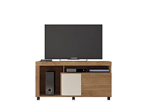 Buyqualia Mueble DE TV DE Madera con Acabado EN BURITI Y Beige (70X136X38 CM)