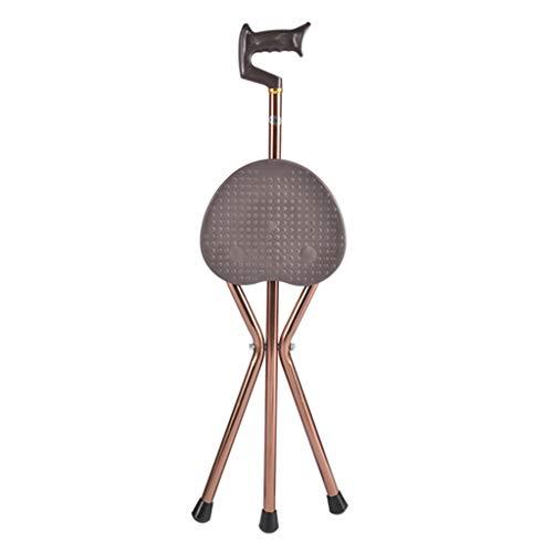 Wandelstok met zit- & krukken stoel voor senioren mensen, niet-slipThree Legged Seat Stick,85-95cm