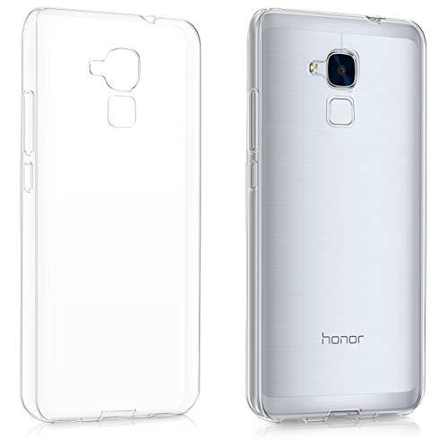kwmobile Funda Compatible con Huawei Honor 5C - Carcasa de TPU para móvil - Cover Trasero en Transparente