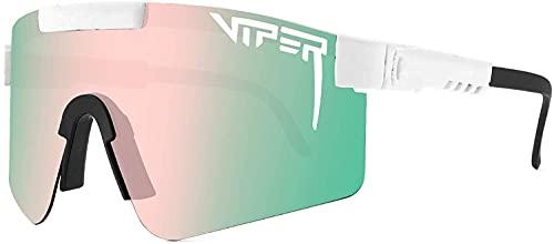 Pit Viper Gafas de sol, gafas de ciclismo al aire libre para mujeres y hombres, gafas de sol polarizadas UV400 (C3)