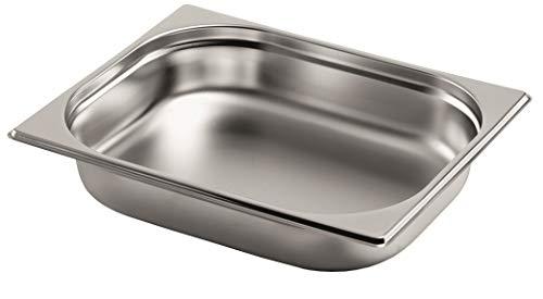Gastro-Bedarf-Gutheil Réservoir GN 1/2 20 mm de Profondeur empilable en Acier Inoxydable Convient pour Le rafraichisseur de Plat Bain Marie Saladette