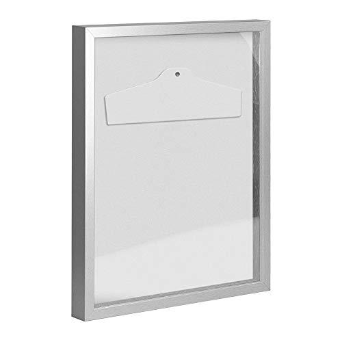 Objektrahmen Trikotrahmen VARIO inkl. Bügel und Passepartout 80x100cm Mattsilber (lackiert)