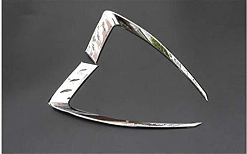 タイマーフラスコバスタブJicorzo - ジープグランドチェロキー2014-2016カーエクステリアアクセサリースタイリングのためのABSクローム車のフロントヘッドライトまぶたカバートリムフィット2PCS