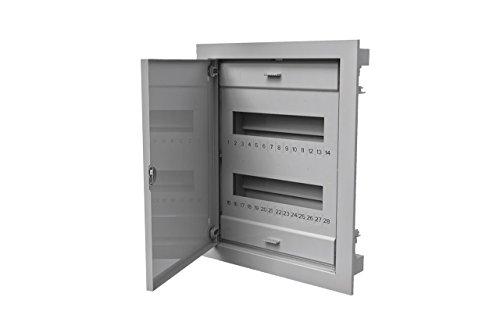 Unterputz Unterverteilung Sicherungskasten Verteilerkasten 2reihig für 24 + 4 TE