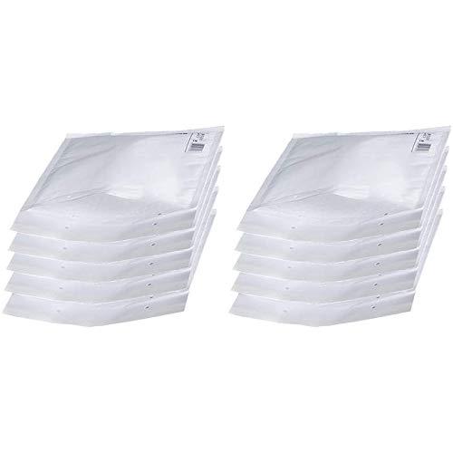 10x Luftpolstertaschen Versandtaschen C/3 170 x 225 mm Luftpolsterumschläge Verschluss Haftklebend Weiss