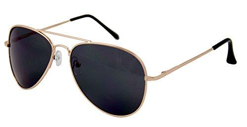 Foxxeo 35124 | Pilotenbrille Party Brille Pilot Cool Sonnenbrille