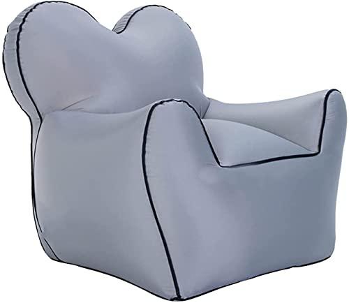 Sofás hinchables para Tumbona Inflable, sofá Inflable rápido portátil, sofá Perezoso Impermeable Impermeable con Fugas para la Playa, Piscina, Acampar (Color : Gray)