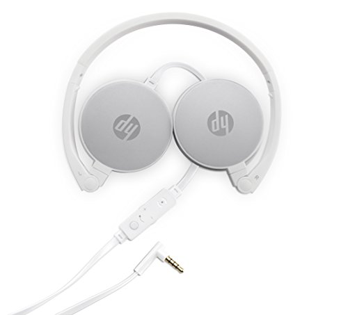 HP 2800 Pikes Silver Headset with in Line Mic for Handsfree, Foldable