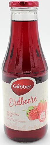 Göbber Erdbeer Sirup, 10er Pack (10 x 500ml)